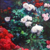 "Jora Hayrapetyan - ""Roses""   2011 - Oil on canvas - 60x70cm"