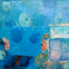 Water Element - Oil and mixed media on canvas - 90x100cm
