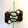 """""""Two Directions"""" - Bronze, glass - 76x30x35cm"""