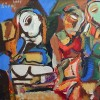 Ayvaz Avoyan- Three figures - Oil on canvas - 60x70cm