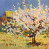 """Tree in Blossom N2"" - Oil on canvas-41x50,5cm"