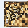 """Escape"" - Collage - Wood, Chess pieces - 51x50x12cm"