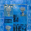 """""""Blue room"""" - Mixed media and oil on canvas - 150x130cm"""